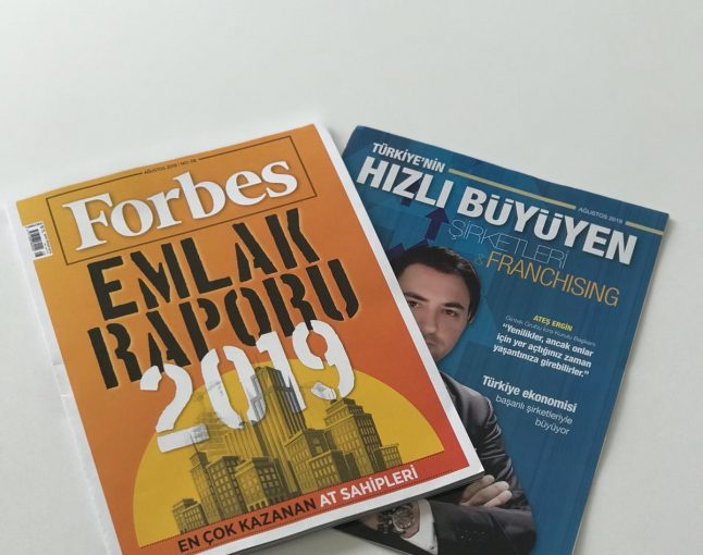 AUGUST 2019 FORBES MAGAZİNE