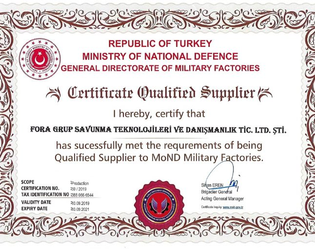 FORA GROUP NOW MSB APPROVED SUPPLIER